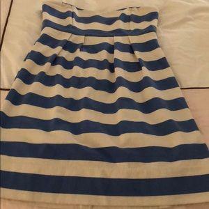Jcrew Strapless Stripe Dress Beach Cover Up 00
